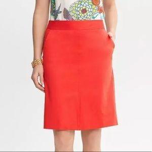 Banana Republic x Trina Turk | Red Pencil Skirt